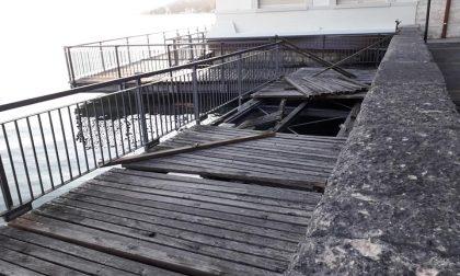 Passerella sul lago a Fasano del Garda: ritornerà agibile prima di Pasqua
