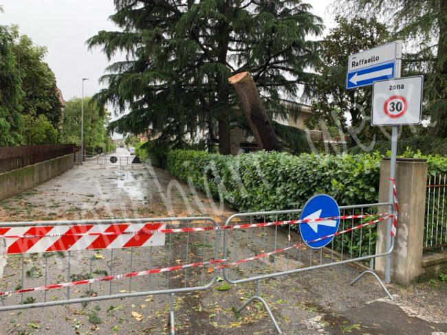 Strade bloccate a Castiglione delle Stiviere