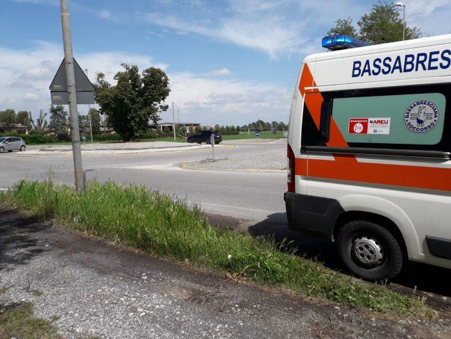 Tamponamento a Verolanuova, 31enne al Pronto soccorso