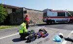 Incidente sulla sp572 a Lonato: paura per un biker FOTO