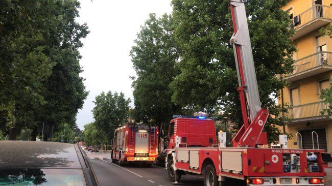 Incendio in appartamento in viale Mellini a Chiari VIDEO