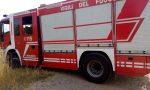 Incendio in un pioppeto tra Pontoglio e Palazzolo