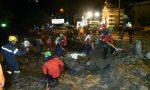 Grossa frana in Valsassina: evacuate 80 persone FOTO VIDEO