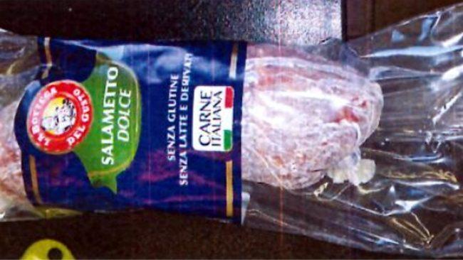 Salametto dolce - La bottega del gusto: richiamo per rischio microbiologico