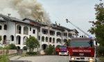 A fuoco un residence sul Garda – LE FOTO