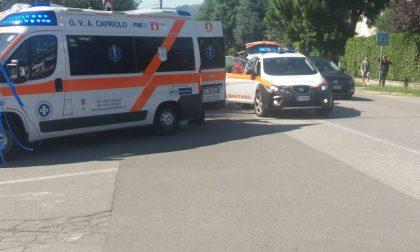 Pedone investito sulla provinciale: ambulanza a Capriolo