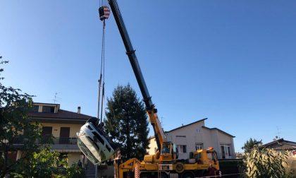 Ribaltamento a Palazzolo: illeso l'autista