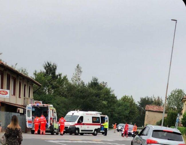 Investiti alcuni ciclisti in via Dante a Pontoglio
