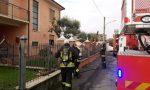 Incendio a Rudiano: vigili del fuoco in azione VIDEO