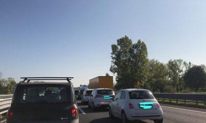 Incidenti in A4: traffico bloccato direzione Brescia