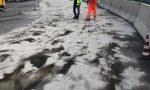Camion perde 500 litri di gasolio all'Autogrill a Erbusco