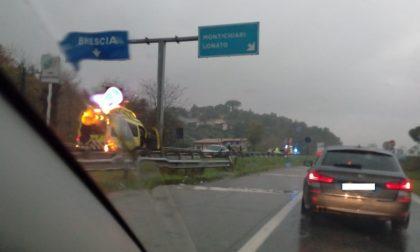 Pauroso schianto tra Desenzano e Lonato: code sulla ss11