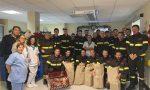 Pompieri in visita ai bimbi ricoverati in Pediatria a Chiari