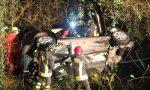 Precipita con l'auto in una scarpata di 5 metri: grave un 40enne