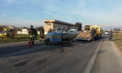 Paura a Rovato: chiamato l'elisoccorso per un incidente