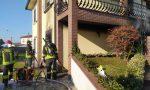 Va a fuoco l'abitazione: riescono ad uscire appena in tempo GALLERY