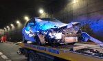 Schianto in galleria Covelo: un veicolo è finito contro un ostacolo sulla sp510