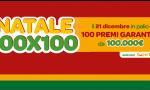"""""""Natale 100×100"""" di SuperEnalotto SuperStar: assegnati 100 premi da 100 mila euro"""