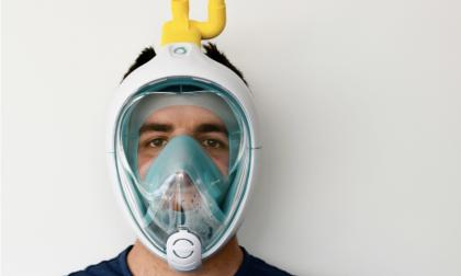 Una maschera da snorkeling si trasforma in dispositivo respiratorio di emergenza