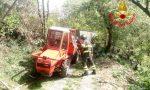 Finisce sotto il trattore a Montisola: paura per un giovane