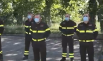 Il saluto dei Vigili del fuoco all'amico che li ha lasciati VIDEO