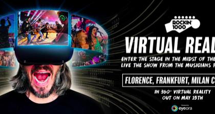 Rockin'1000 entra nella realtà virtuale per la prima volta