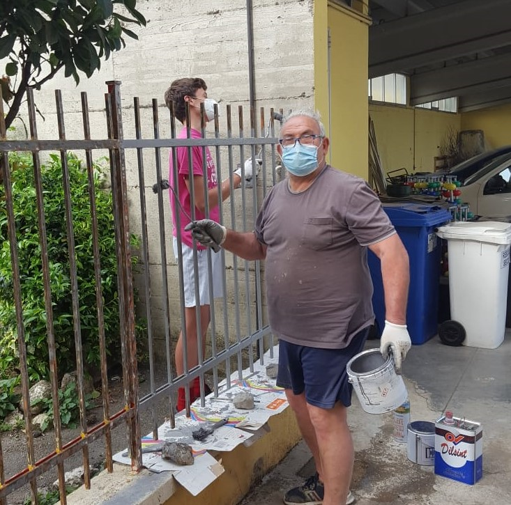 La scuola materna rimessa a nuovo grazie ai volontari
