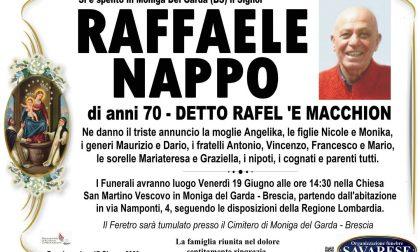 Moniga piange il ristoratore Raffaele Nappo