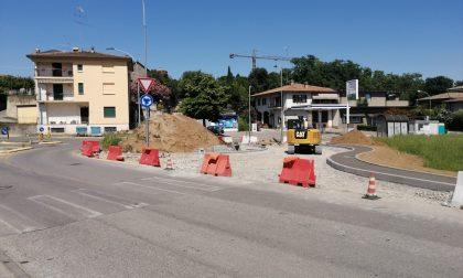 Desenzano, nuova rotonda e percorsi pedonali a San Pietro