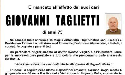 Bagnolo Mella piange Giovanni Taglietti