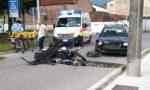 Scontro auto moto, un centauro finisce in ospedale