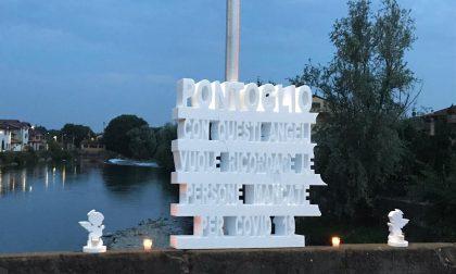 Luci sul ponte di Pontoglio per ricordare le vittime del Coronavirus GALLERY