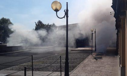Incendio in un garage sotterraneo a Rovato GALLERY
