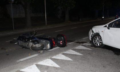 Auto contro scooter, ferito un 63enne GALLERY