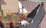 Forte temporale a Rovato: tetti scoperchiati, anche quello del teatro parrocchiale FOTO