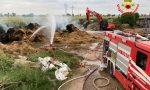 Incendio in un'azienda agricola di Montichiari