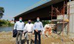 Il presidente della Provincia in visita al cantiere del nuovo ponte