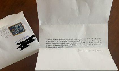 Una lettera di insulti nella posta del vicesindaco di Azzano Mella