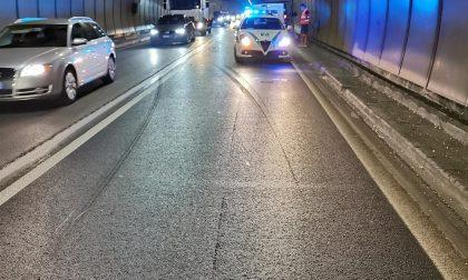 Incidente in galleria a Iseo: traffico bloccato per un'ora questa mattina in sp510
