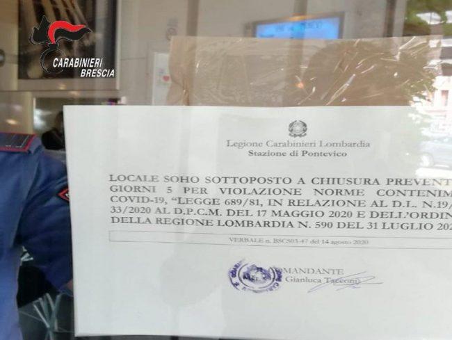La notifica di chiusura da parte dei Carabinieri