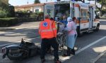 Si schianta con lo scooter contro un furgone, ferito un 42enne LE FOTO