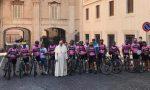 Pedalando contro il Parkinson: il palazzolese Ghidotti e altri nove ciclisti hanno incontrato il Papa