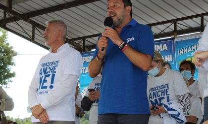 Matteo Salvini a Rovato per sostenere il sindaco Belotti