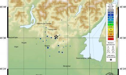 Terremoto a Caino, percepito in metà provincia