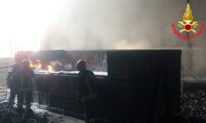 Incendio in ditta a Borgosatollo