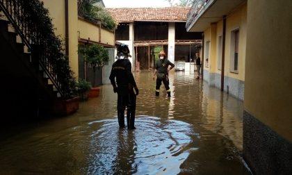Allagamento a Rudiano: pompieri in azione