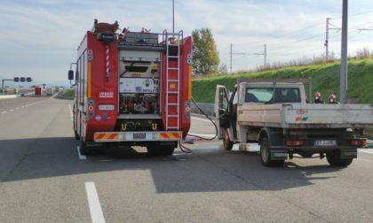 Pompieri impegnati in A35