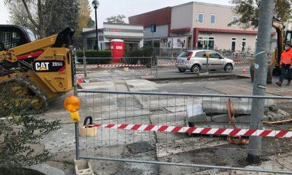 Iniziati i lavori di messa in sicurezza di via Brescia