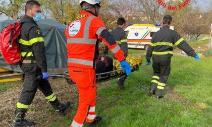 Elisoccorso a Passirano per un 56enne caduto nel bosco