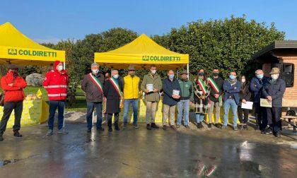"""""""Pacchi famiglia"""": l'iniziativa solidale di Coldiretti e Regione Lombardia per i più bisognosi GALLERY"""